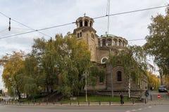 Kathedraalkerk St Nedelya in Sofia, Bulgarije Royalty-vrije Stock Afbeelding
