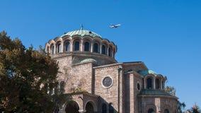 Kathedraalkerk St Nedelya in Sofia, Bulgarije stock afbeeldingen