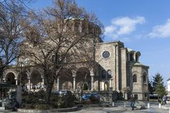 Kathedraalkerk St Nedelya in Sofia, Bulgarije royalty-vrije stock foto