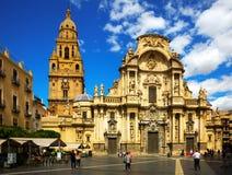Kathedraalkerk van Heilige Maria in Murcia, Spanje Stock Afbeeldingen