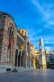 Kathedraalkerk van Sinterklaas, Volos, Griekenland - April 2017 stock afbeeldingen