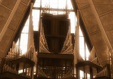Kathedraalorgaan bij de Kapel Colorado Springs van de Luchtmachtacademie stock afbeelding