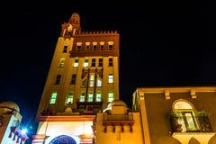 24 kathedraalplaats bij nacht in St Augustine, Florida Royalty-vrije Stock Afbeelding