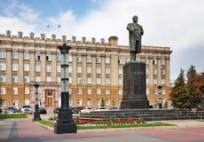 Kathedraalvierkant in Belgorod Rusland royalty-vrije stock foto's