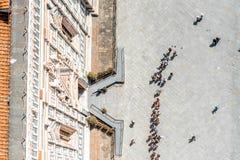 Kathedraalvierkant in Florence stock fotografie