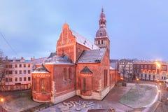 Kathedraalvierkant in Riga, Letland Royalty-vrije Stock Fotografie