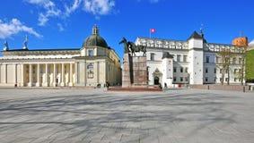 Kathedraalvierkant van Vilnius, Litouwen Royalty-vrije Stock Fotografie
