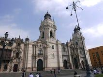 Kathedrale aus Lima an einem schönen Tag Lizenzfreies Stockbild