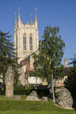 Kathedrale Bedecken-St. Edmunds Abbey Remains und St. Edmundsbury Stockfotografie