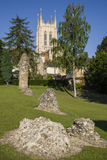 Kathedrale Bedecken-St. Edmunds Abbey Remains und St. Edmundsbury Stockbilder