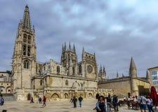 Kathedrale in Burgos, Spanien Stockbilder