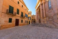 Kathedrale Ciutadella Menorca in Ciudadela-Baleareninseln Stockbild