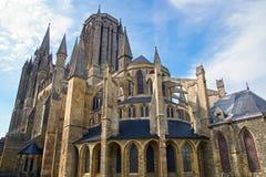 Kathedrale in Coutances, Frankreich lizenzfreie stockfotos