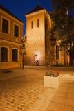 Kathedrale in der alten Stadt von Bydgoszcz nachts Stockfotos