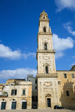 Kathedrale der Annahme von Jungfrau Maria in Lecce, Italien Stockfotos