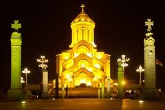 Kathedrale der Heiligen Dreifaltigkeit von Tiflis Sameba Stockfotos
