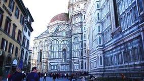Kathedrale der Heiliger Maria der Blume in Florenz stock footage