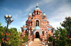 Kathedrale der Kasan-Ikone der Mutter des Gottes in Irkutsk-Stadt, Russland Stockfoto