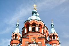 Kathedrale der Kasan-Ikone der Mutter des Gottes in Irkutsk-Stadt, Russland Stockbild