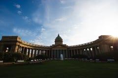 Kathedrale der Kasan-Ikone der Mutter des Gottes, von St Petersburg Stockfotos