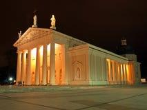 Kathedrale in der Nachtzeit Lizenzfreies Stockbild