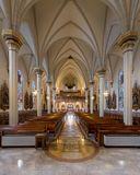 Kathedrale der Unbefleckten Empfängnis von Fort Wayne stockfotos