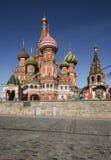Kathedrale des Basilikums auf rotem Quadrat Lizenzfreie Stockfotos