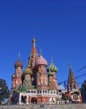Kathedrale des Basilikums gesegnet in Moskau Lizenzfreie Stockfotos