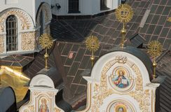 Kathedrale des Dormition in Kiew Pechersk Lavra stockbild