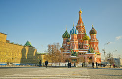 Kathedrale des Heilig-Basilikums, Russland lizenzfreie stockfotos