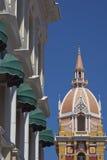 Kathedrale des Heiligen Catherine von Alexandria in Cartagena de Indias, Kolumbien Stockfotos