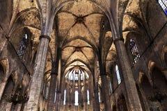 Kathedrale des heiligen Kreuzes und des Heiligen Eulalia Barcelona, Spanien Lizenzfreie Stockfotos