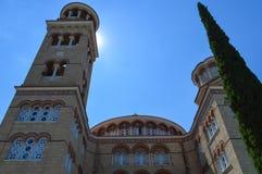 Kathedrale des Heiligen Nectarios in Aegina-Insel, Griechenland am 19. Juni 2017 Stockbild