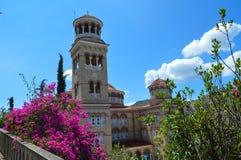 Kathedrale des Heiligen Nectarios in Aegina-Insel, Griechenland am 19. Juni 2017 Lizenzfreie Stockfotos