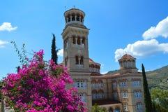 Kathedrale des Heiligen Nectarios in Aegina-Insel, Griechenland am 19. Juni 2017 Lizenzfreie Stockfotografie