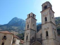 Kathedrale des Heiligen Tryphon, Kotor stockfotos