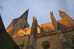Kathedrale des Heiligen Vincent de Saint-Malo, Bretagne, Frankreich lizenzfreie stockfotos