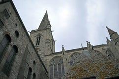 Kathedrale des Heiligen Vincent de Saint-Malo, Bretagne, Frankreich stockfotografie