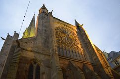 Kathedrale des Heiligen Vincent de Saint-Malo, Bretagne, Frankreich stockbilder