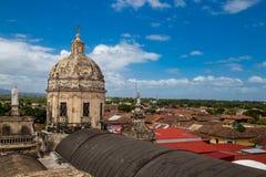 Kathedrale draußen sehen von Granada, Nicaragua an Lizenzfreie Stockfotografie