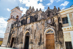 Kathedrale draußen von Granada, Nicaragua Stockbilder