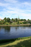 Kathedrale durch den Fluss Stockfoto