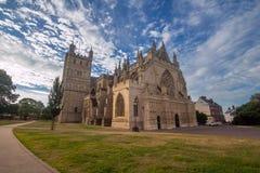 Kathedrale in Exeter stockfotos
