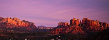 Kathedrale-Felsen panoramisch in Sedona, Arizona Lizenzfreie Stockbilder