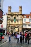 Kathedrale-Gatter, Canterbury Stockfotografie