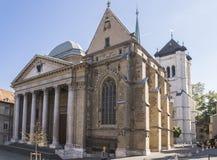 Kathedrale in Genf Stockbilder