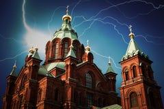 Kathedrale in Helsinki Stockfotografie