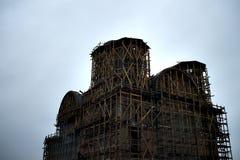 Kathedrale im Bau Stockfoto