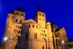 Kathedrale im Trier - Nacht lizenzfreie stockfotos