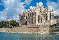 Kathedrale-La Seu in Palma de Mallorca Stockfotos